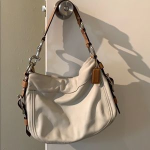 Cream Coach Bag